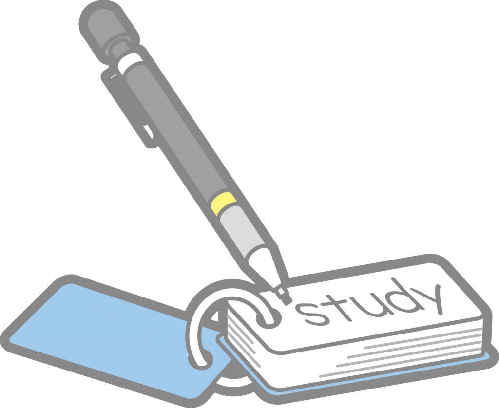 英単語の勉強をする